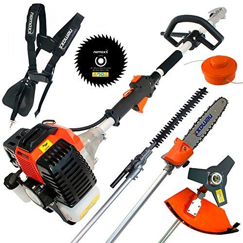 Nemaxx MT62 5en1 Herramienta Combi de jardinera- Multifuncin con 52cc, a Dos tiempos - a gasolina...