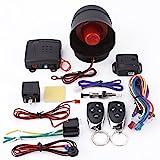 Keenso Alarmanlagen Autoalarmsystem Universal Auto Alarm Sicherheit Schutzsystem mit 2 Fernbedienungen Sirene