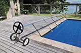 Kokido Stainless Steel In Ground Swimming Pool Cover Reel Set Up to 18.7'