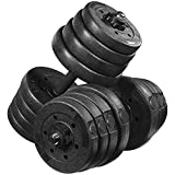 MOVTOTOP 66.14 LBS Adjustable Dumbbell Set,【2020 Newest】 Multiple Dumbbell Weights Set for...