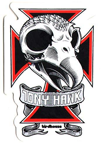 Birdhouse Tony Hawk Skull Skateboard Sticker. 9cm high Approx. Skate Snow surf Board BMX Skateboarding Video Days