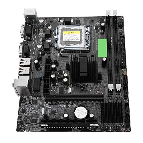 Focket Computer Motherboard,Desktop Computer Motherboard LGA 775 USB2.0 SATA Mainboard for Intel G41 Support IDE Port, Small Size and Easy to Install.