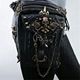 Retro Rock Thigh Bag Vintage Gothic Punk Leg Pack Womens Steampunk Punk Bag Multi-function Mobile Phone Pockets (Misc.)