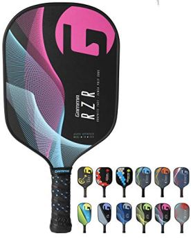 Gamma RZR Composite Pickleball Paddle: Pickle Ball Paddles for Indoor & Outdoor Play - USAPA Approved Racquet for Adults & Kids - Pink/Blue
