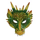 Halloween Mask 3D Dragon Cosplay Mask Party Costume Mask for Mardi Gras Green