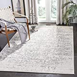 Safavieh Madison Collection MAD603G Vintage Medallion Distressed Area Rug, 8' x 10', Silver/Ivory