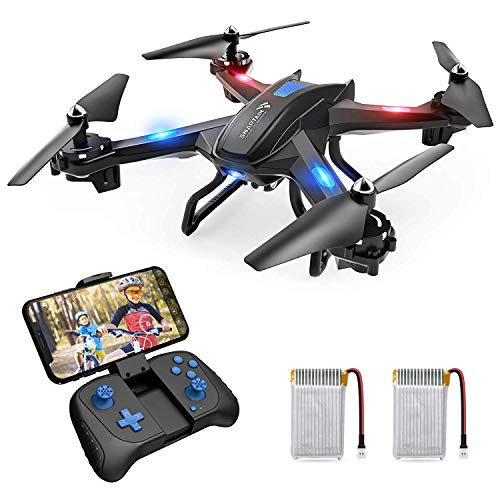SNAPTAIN S5C - Drone con telecamera 720P WiFi FPV, telecomando WiFi APP, con controllo Gestuale, volo, 360 Flips per principianti e bambini