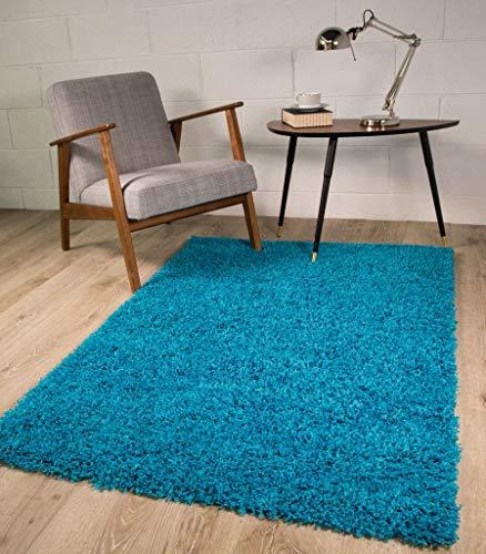 The Rug House Teal Blu Tappeto Spesso, 7Taglie Disponibili, Blue, 60_x_110_cm