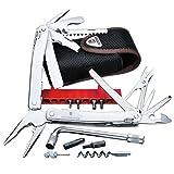 Victorinox Swiss Tool Spirit XC Plus, 35 Funktionen, Klinge mit Wellenschliff, Metallsäge, Nylon Etui, silber