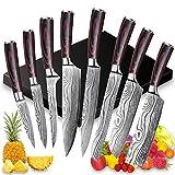 UniqueFire 8 PCS Ensemble Couteaux de Cuisine, Couteau Militaire,...