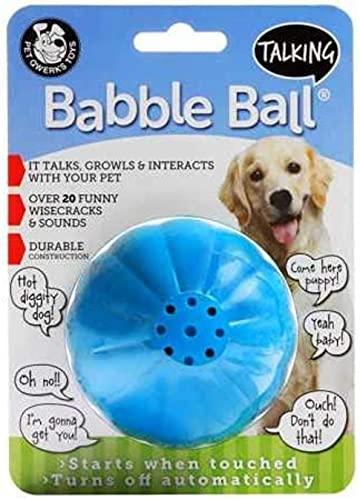 Pet Qwerks Talking Babble Ball Interactive Chew...