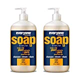 Everyone Men's 3-in-1 Soap: Shampoo, Body Wash, and Shave Gel, Cedar and Citrus, 32 Ounce, 2 Count