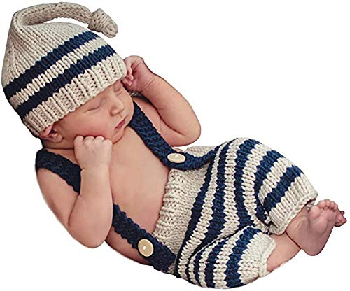 Newborn Photography Props Baby Boys Girls Knitted Costume Outfits...