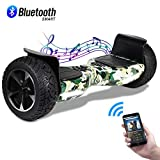 CBD Off Road Hover Board, 8.5' Bluetooth Hoverboard for Kids, Two-Wheel Self Balancing Hoverboard, Electric Scooter All Terrain Hoverboard for Adult-TeCamo