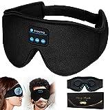 Masque de Nuit - Contours 3D Masque de Sommeil Bluetooth 5.0 Casque Anti...