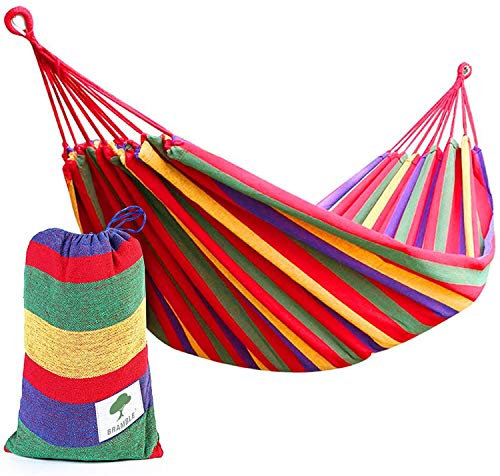 Hamac Portable en Toile Rouge-hamac à l'extérieur ou dans Les Jardins et...