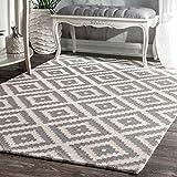nuLOOM Kellee Contemporary Wool Area Rug, 5' x 8', Grey