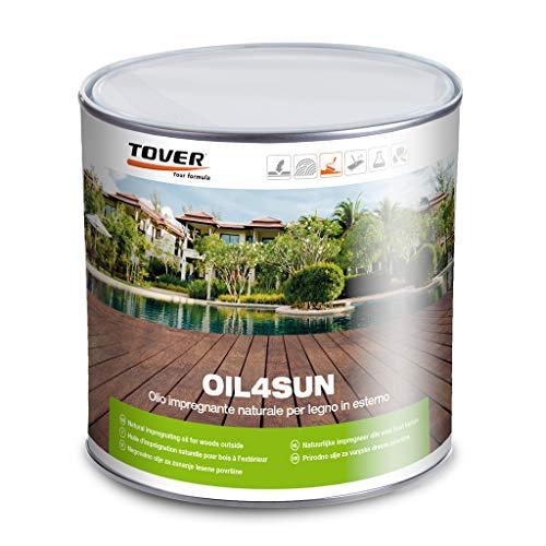 OIL4SUN - 2,5 lt - Olio protettivo naturale per decking e legno in esterno (Teak)