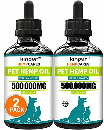 (2 Pack) Hemp Oil for Dogs and Cats - Natural...