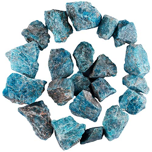 SUNYIK Natural Raw Stones Rough Rock Crystals for Tumbling,...