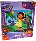 Dora the Explorer 24-Piece Jigsaw Puzzle, Dora with Flowers