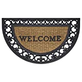 Achim Home Furnishings WRM1830FS6 Fleur De Lis Slice Wrought Iron Rubber Door Mat, 18 by 30'