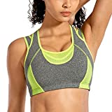 SYROKAN Women's Workout Sports Bra High Impact Support Bounce Control Wirefree Mesh Racerback Top Multicoloured #4 XXL