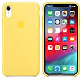 AIWE Coque iPhone XR iPhoneXS iPhoneXS Max Coque Silicone Liquide pour iPhone XSMAX/XR/XS (iPhone XR, Canary Yellow)