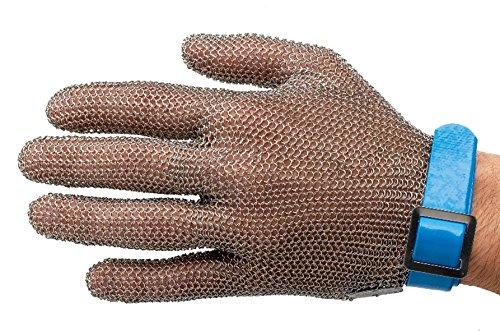 Manulatex Ogcm.130.40.000.00 - guanti professionali maglia di acciaio, taglia L, blu