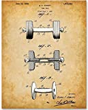 Dumbbell - 11x14 Unframed Patent Print - Makes a Great Fitness Decor Gift Under $15 for Body Builders and Home Gym Decor