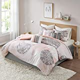 Home Essence Springfield Lightweight All Season Goose Down Alternative Fill Floral Comforter Set Bedding, Queen, Coral 7 Piece
