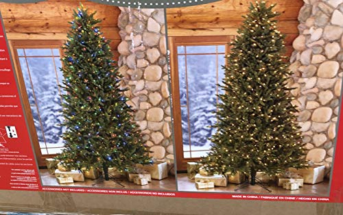 Costco 7.5 Ft Prelit LED Christmas Tree Color Lights and White Lights (7.5 Ft)