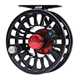M MAXIMUMCATCH Maxcatch Fly Fishing Reel with CNC-machined Aluminum Body Avid Series Best Value - 1/3, 3/4, 5/6, 7/8, 9/10 Weights(Black, Green, Blue, Silver, Black&Silver)(Matte Black, 5/6 wt)