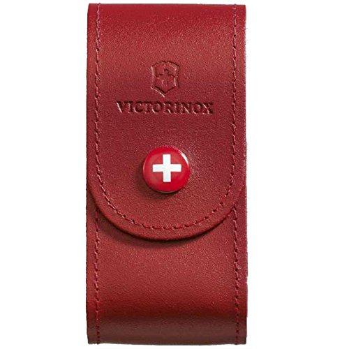 Victorinox Funda de Piel para Herramientas de 91 mm, Color Rojo