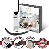 Cocktail Smoker - INCLUDES WOOD CHIPS - Smoking Gun   Smoke Meat, Drink & Food Indoor Infuser   Ultimate Sous Vide Foodie Accessories Gift