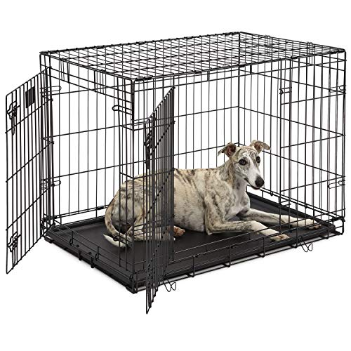 """Life Stages LS-1636DD Double Door 36"""" Folding Crate with Divider for Intermediate Dogs(41 - 70lbs)"""