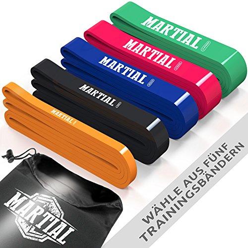 Martial Elastico Fitness per Trazioni | 1 di 5 Bande Elastiche Resistenza x Crossfit | Loop Band x...