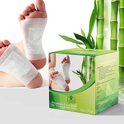 LITES Foot Pads - (60pcs) Premium Foot Pad, Relieve Stress   Organic & Natural Foot Pad   Sleep Better