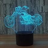 CreativeLed USB 3D USB Luz de noche Regalo para niños Stereo Powerbank USB Mesa de escritorio Tamp para niños Novedad 3D USB Lámpara de mesa 7 colores que cambian la mesa de escritorio Tamp