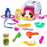 Vet Play Set for Toddlers & Kids Veterinarian Kit Toy with A Plush Dog & 18 Care Accessories & Pet Doctor Instruments – Colorful Vet Toy Set for Play Pretend Examination & Treatment