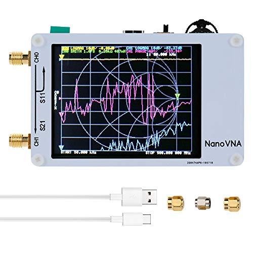 KKmoon アンテナアナライザー 50KHz-900MHz タッチスクリーン ベクトルネットワークアナライザ 短波MF HF V...