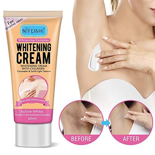 Underarm Whitening Cream, Anti Aging, Skin Brightening Treatment for Armpit, Neck, Private Area, Get Rid of Dark Spots