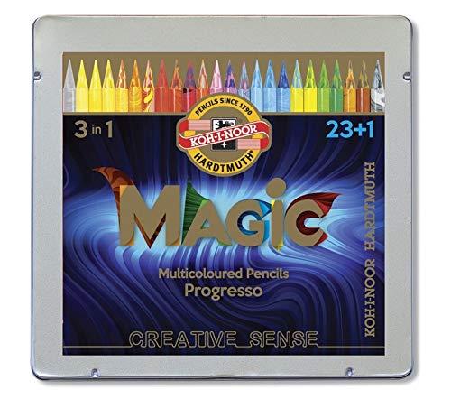 KOH-I-NOOR(コヒノール) セット ウッドレス カラー MAGIC 鉛筆 8774 23+1 24 in SET 8774024004PL