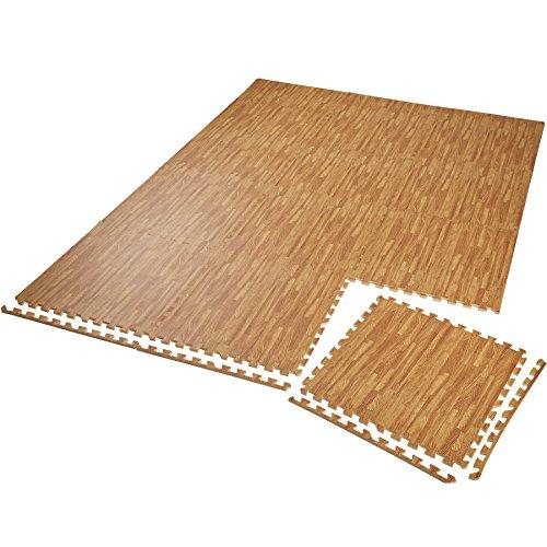 TecTake Set di tappetini di Protezione Tappetino da Fitness | Antiscivolo, antimacchia | Sistema ad...