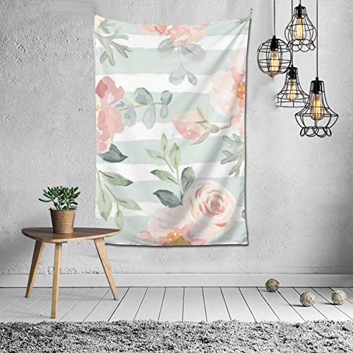 Brown Floral Watercolor Tps2nice फैशन आंतरिक सजावट बहुक्रियाशील बेडरूम व्यक्तित्व उपहार इनडोर दीवार फांसी कक्ष पर्दा उपहार दीवार सजावट