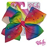 JoJo Siwa Signature Collection Hair Bow with All-Over - Multicolored Rhinestones in Rainbow