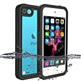 iPod Touch 7 Case, iPod Touch 6 Case, iPod Touch 5 Waterproof Case, BESINPO Full-Body Protective Cover Built-in Screen Protector with Wrist Strap Shockproof Case for iPod Touch 7th/6th/5th Generation