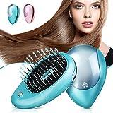 Brosse à cheveux électrique ionique, Luckyfine, Mini Brosse ionique pour...