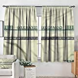 Anzhutwelve Out Drapes Dollar Bill Frame Pattern 42'X63' Backout Curtains for Baby Bedroom