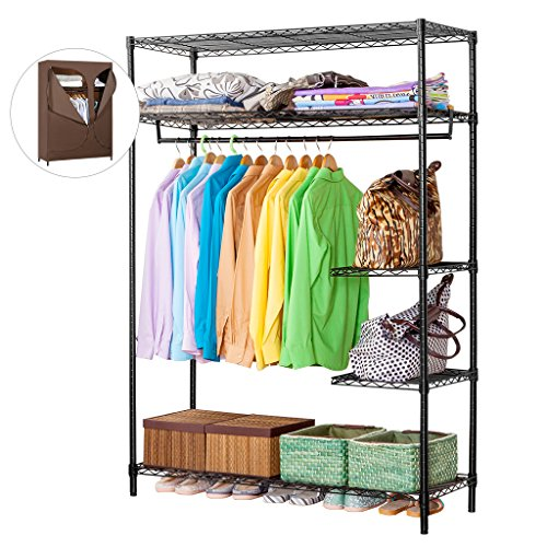 LANGRIA Heavy Duty Wire Shelving Garment Rack Clothes Rack,...